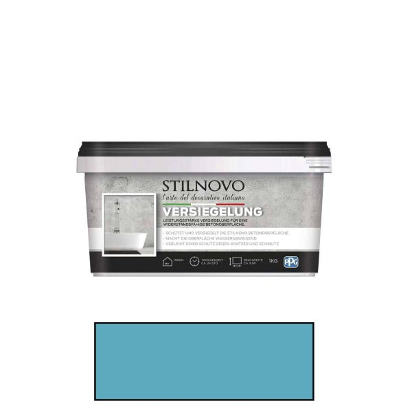 Stilnovo Versiegelung Hellblau / Transparent 1kg