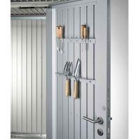 Biohort Werkzeughalter silber für Gerätehaus AvantGarde+HighLine+HighBoard 50x515x35 mm