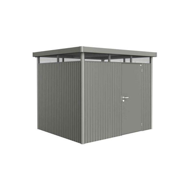 Biohort Gerätehaus HighLine Gr. H3 quarzgrau-metallic, Doppeltür 2750x2350x2220 mm
