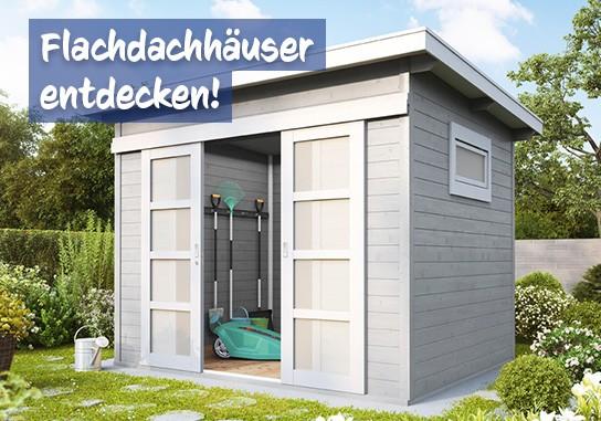 Flachdach Gartenhaus bei baumarkt-deutschland kaufen