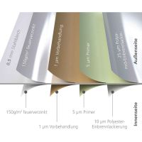 Biohort LoungeBox Gr. 160 silber-metallic 700x1600x835 mm