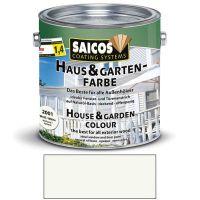 Saicos Haus & Gartenfarbe auf Naturöl-Basis Weiß 2,5l