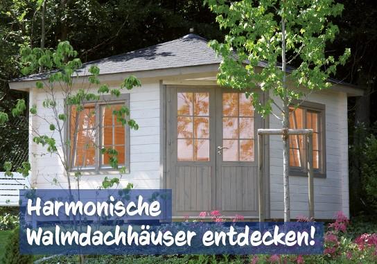 Walmdach Gartenhaus bei baumarkt-deutschland kaufen
