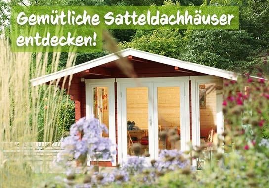 Satteldach Gartenhaus bei baumarkt-deutschland kaufen