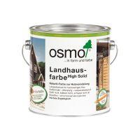 Osmo Landhausfarbe Nr. 2742 verkehrsgrau A 2,5l, Holzanstrich für Hölzer im Außenbereich