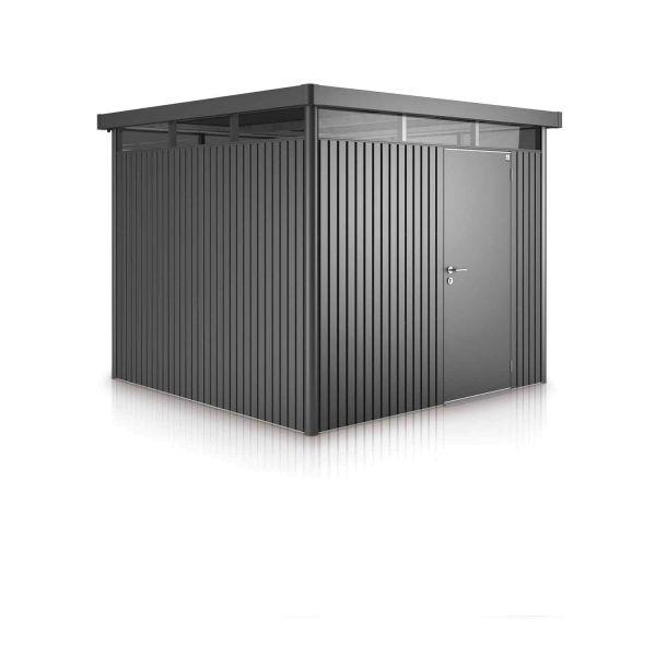 Biohort Gerätehaus HighLine Gr. H5, dunkelgrau-metallic, Standardtür 3150x2750x2220 mm