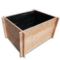 Hochbeet Asta von Nordje® aus hochwertigem Holz Douglasie 110x85x58,5cm LxBxHcm mit Geotextil-Vlies