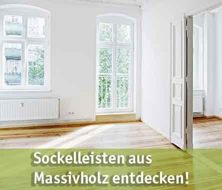 Massivholz Sockelleisten günstig kaufen bei baumarkt-deutschland!