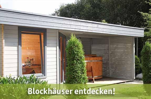 Blockhäuser günstig kaufen bei baumarkt-deutschland!