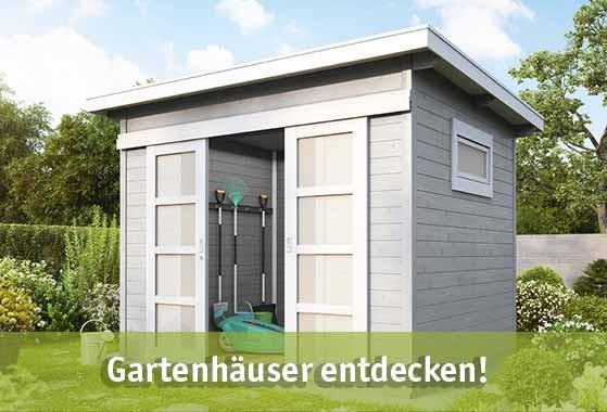 Gartenhäuser günstig kaufen bei baumarkt-deutschland!