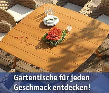 Gartentische günstig kaufen bei baumarkt-deutschland!