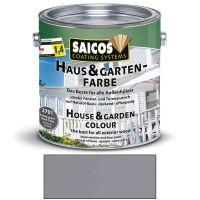 Saicos Haus & Gartenfarbe auf Naturöl-Basis Felsengrau 2,5l