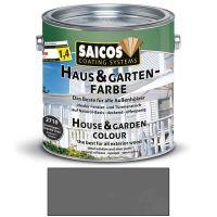 Saicos Haus & Gartenfarbe auf Naturöl-Basis Granitgrau 2,5l