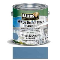 Saicos Haus & Gartenfarbe auf Naturöl-Basis Taubenblau 2,5l