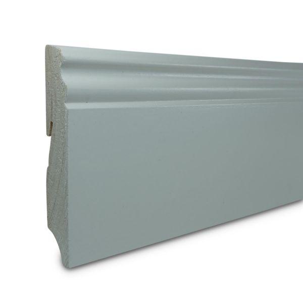 Sockelleisten Weiss Lackiert Massiv 2400x19x96mm Kaufen