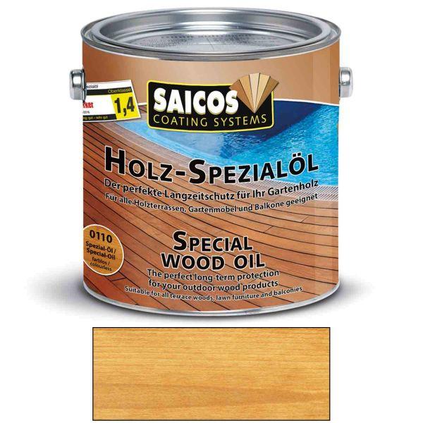 Saicos Holz Spezialöl Farblos Holzöl Terrassenöl Hartholzöl 2,5l