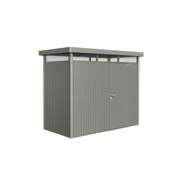 Biohort Gerätehaus HighLine Gr. H1 quarzgrau-metallic, Standardtür, 2750x1550x2220 mm