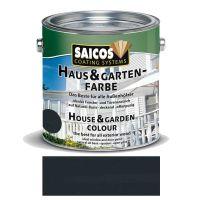 Saicos Haus & Gartenfarbe auf Naturöl-Basis Anthrazitgrau 2,5l