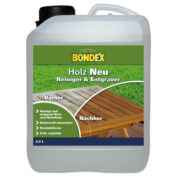 Bondex Holz Neu 2,50 l Farblos Holzentgrauer Holzreiniger