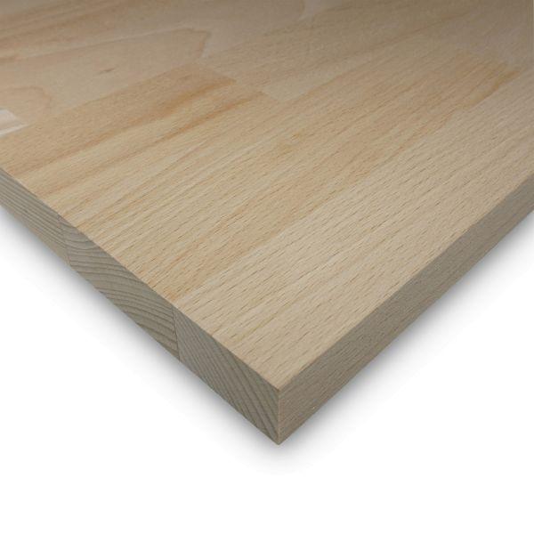 Leimholzplatte Buche Zuschnitt 27 mm Holzplatte Möbelbau Echtholz Keilgezinkt