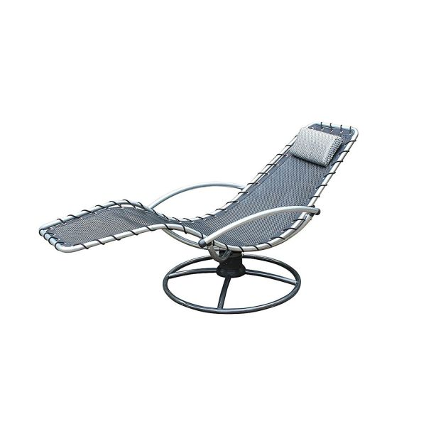 Leco Wippliege mit Kopfkissen, pflegeleichte Sonnenliegen zum Entspannen