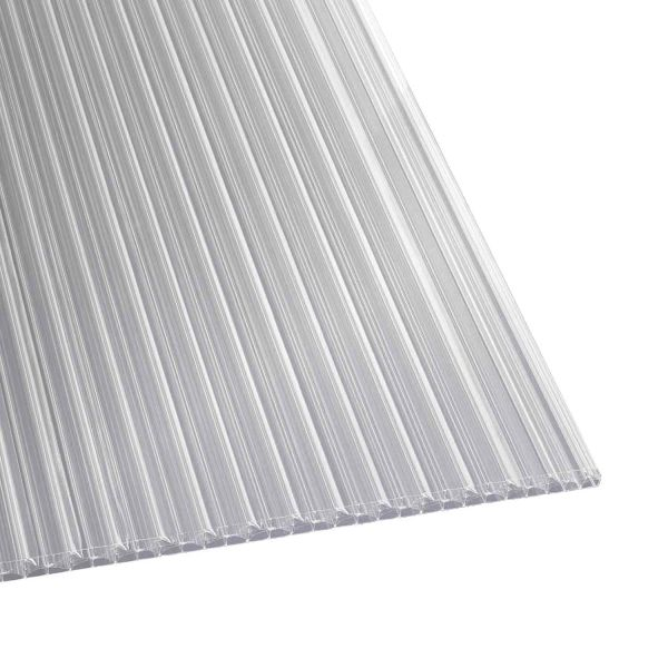 Hohlkammerplatten Polycarbonat longlife klar X 1,6 cm