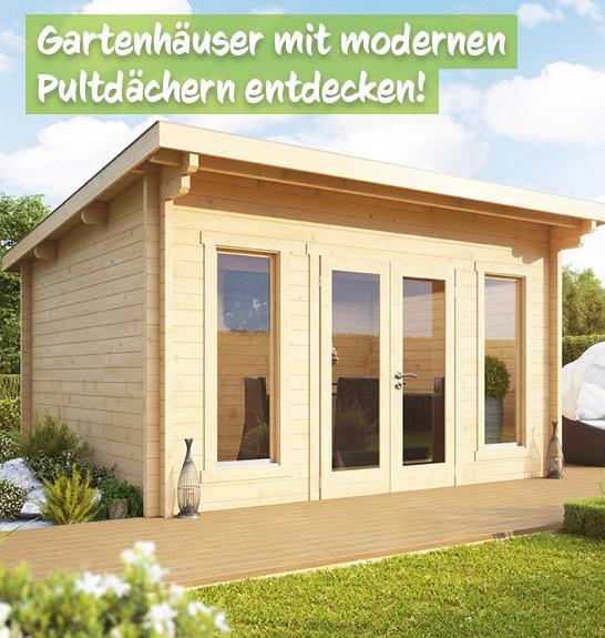 Pultdach Gartenhäuser bei baumarkt-deutschland kaufen