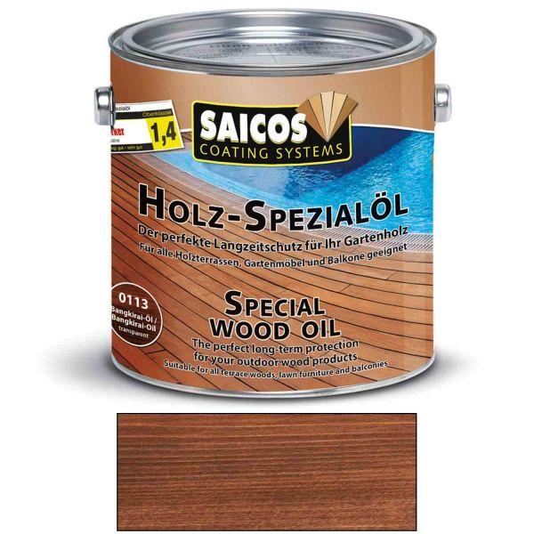 Saicos Holz Spezialöl Bangkirai Holzöl Terrassenöl Hartholzöl 2,5l